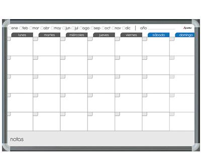 Pintarr n planeador mensual tabla pintarr n con clip - Tabla de corcho ...
